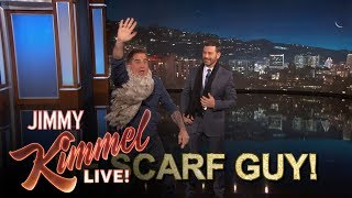 The Scarf Guy Interrupts Jimmy Kimmel's Monologue