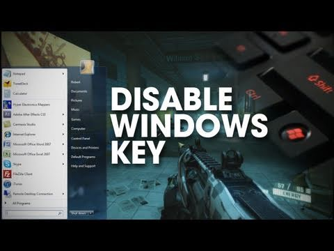 Windows Tip - Disable The Windows Key