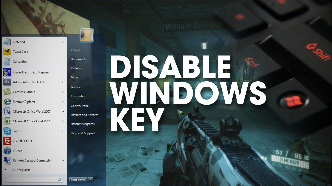 Windows Tip - Disable the Windows Key - YouTube