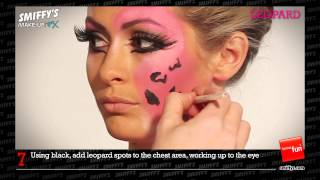 Leopard Face Painting Make-up Tutorial Thumbnail