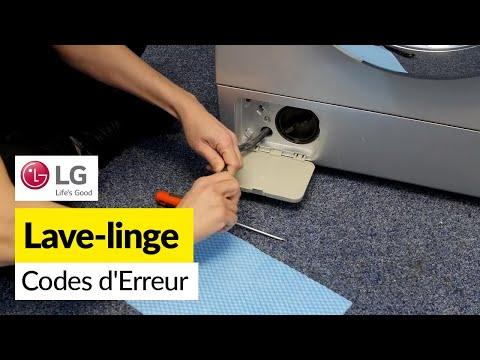 Codes Erreurs sur Machine a Laver LG