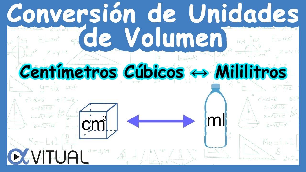 Conversión De Unidades De Volumen Centímetros Cúbicos Cm³ A