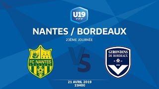 U19 National, Journée 23 : FC NANTES / FC GIRONDINS BORDEAUX  - Dimanche 21 AVRIL à 15h