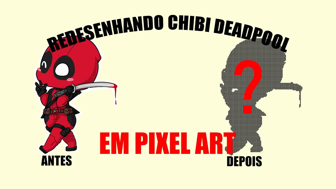 Redesenhando Chibi Deadpool Em Pixel Art Youtube