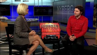 World champion record holding accordion player drops by Nyberg
