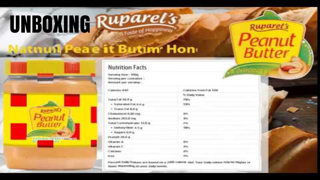 AMAZON    Ruparel\'s Peanut Butter Creamy 340 Grams    UNBOXING - YouTube