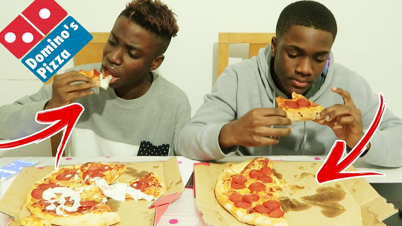 Domino S Pizza Challenge Vs My Brother Impossible Food