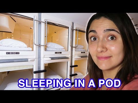 We Stayed In A Japanese Capsule Hotel