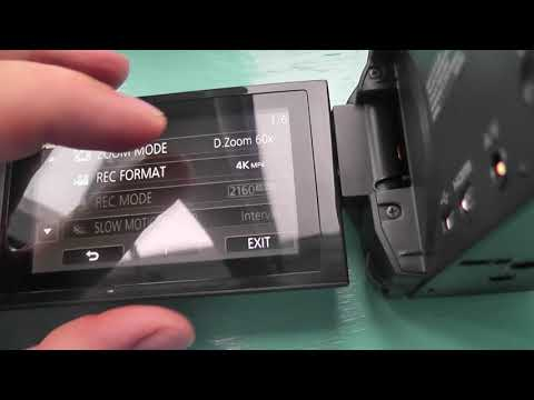 Panasonic VXF990 4K Video camera setting up zoom & zoom test 20sep17
