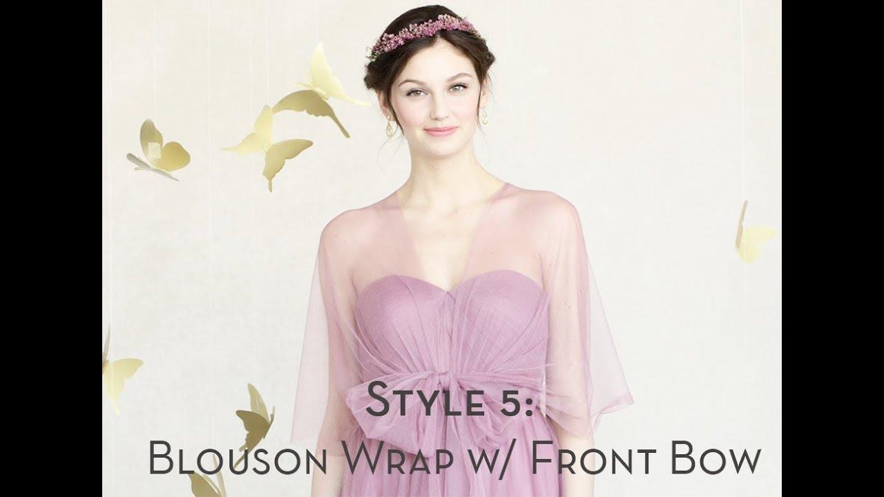 350fc10baf5b Annabelle Dress-Style 5 (Blouson Wrap w/ Front Bow) - YouTube