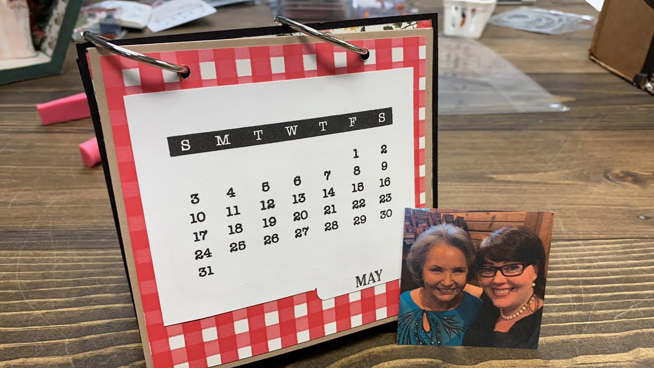 The Crafter Show May Desk Calendar Page