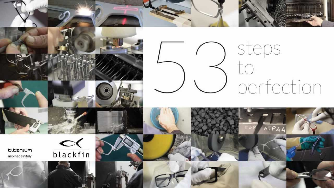 59001a69182 BLACKFIN   53 STEPS TO PERFECTION - How Blackfin titanium eyeglasses are  manufactured - YouTube