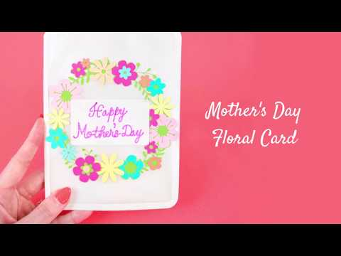 DIY Card: Paper Flower Wreath Card Tutorial