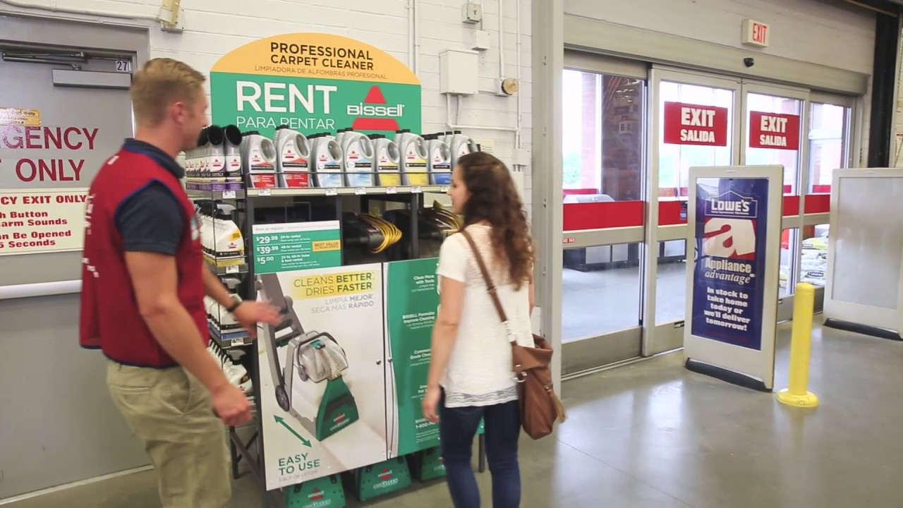 how to rent bissell big green carpet cleaning machine
