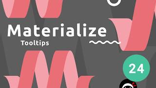 Materialize Tutorial 24 Tooltips & Font Awesome