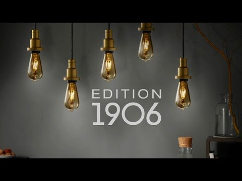 retro filament led lampen edition 1906 von osram youtube. Black Bedroom Furniture Sets. Home Design Ideas
