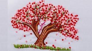 Cerejeira japonesa – Bordados à mão