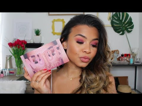 GRWM  One Month One Palette Huda Beauty New Nudes