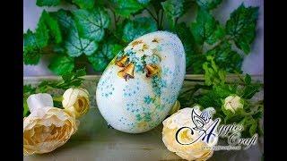 Decoupage Tutorial - Blue Egg with Crackles - DIY