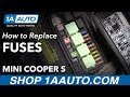 How to Find and Replace Under Hood Fuses 2007 Mini Cooper S