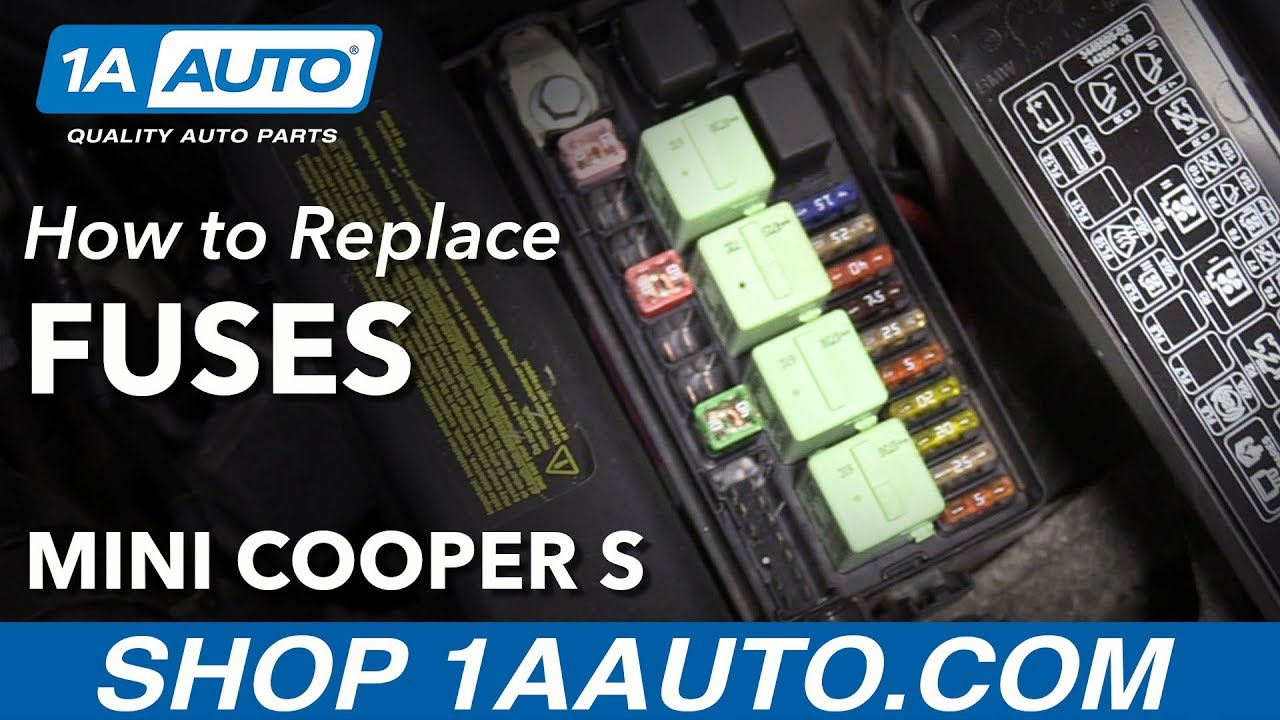 hight resolution of how to replace under hood fuses 07 13 mini cooper s