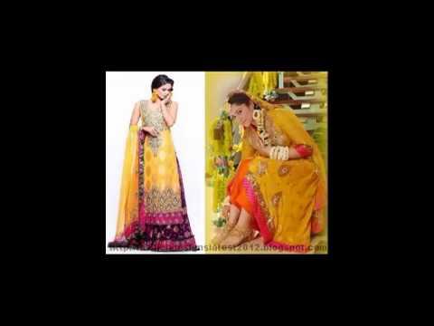 Mehndi Dresses, Latest Mehndi Dress, Wedding Dresses