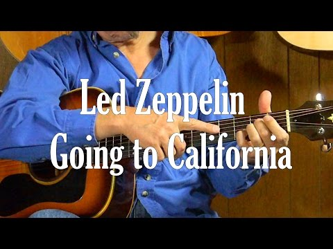 How to Play Led Zeppelin Going to California in Standard Tuning - L110