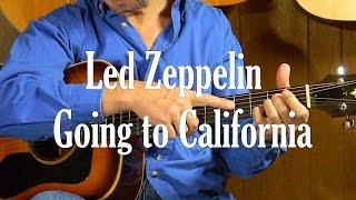 How to Play Led Zeppelin Going to California in Standard Tuning - Guitar lessons Fast Fun & Easy
