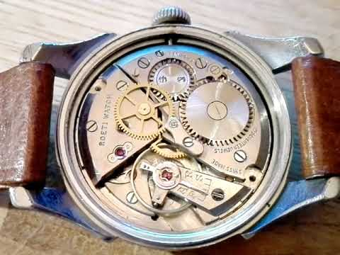 ROETI swiss watch with PESEUX 180A mechanical movement, 1950s