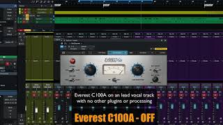 PreSonus Fat Channel Plug-in Demo: Everest C100A
