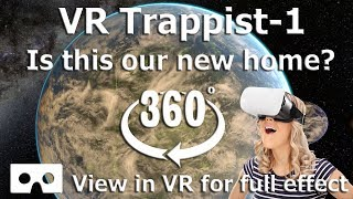 360 Video - Journey to Trappist-1 Solar System  - Virtual Reality 4k