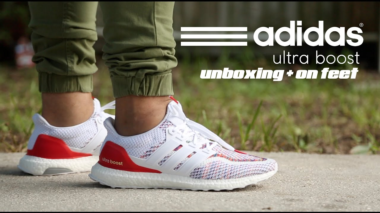 Adidas Ultra Boost  Multicolor  Unboxing + On Feet - YouTube 6c45649ea