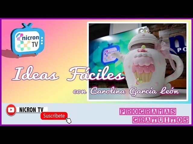 Ideas Fáciles NICRON TV - Como decorar frasco tipo tetera