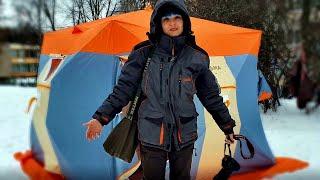 РЫБАЛКА С КОМФОРТОМ! Домик Нельма на льду! Первое подключение теплообменника. Обустройство #84