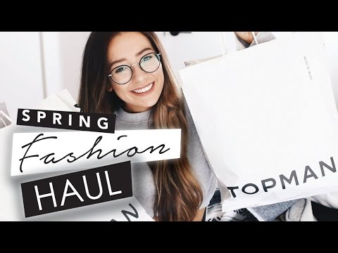 TRY-ON SPRING CLOTHING HAUL 2017! | Caitlin Bea