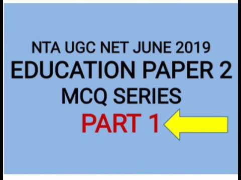 Education paper 2 test series nta Ugc Net June 2019