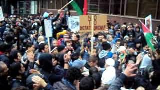 Libya Demonstrations  in Manchester مظاهرات ليبيا مانشستر 3.AVI