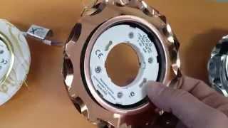Встраиваемый светильник Ecola Glass GX53 H4 Стекло, круглый с вогнутыми краями