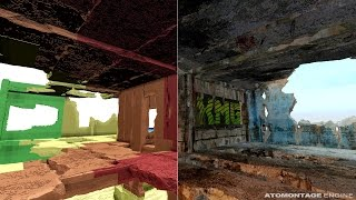 Concrete building interior - voxel LODs