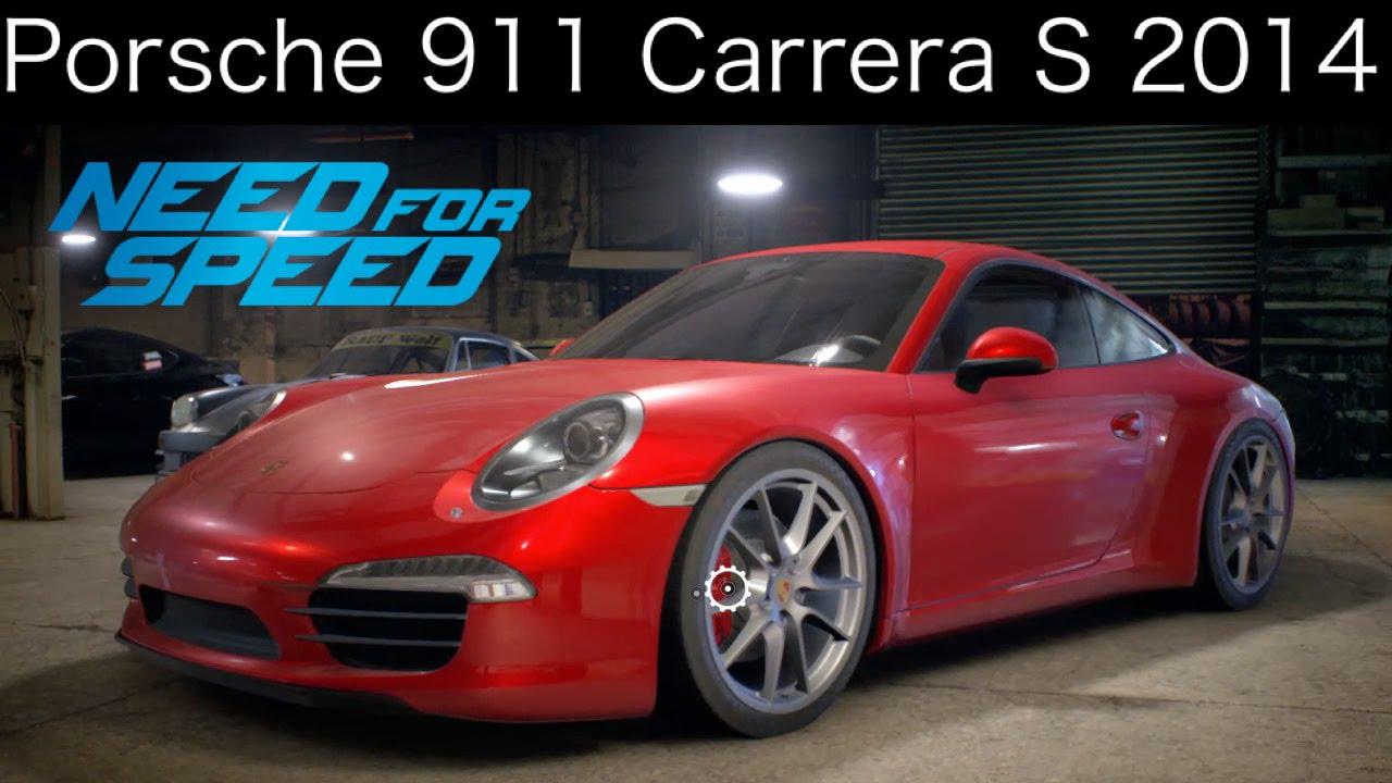 nfs 2015 porsche 911 carrera s 2014 customizationtest drive