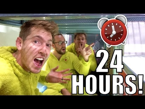24 HOUR FORT OVERNIGHT CHALLENGE IN WALMART!