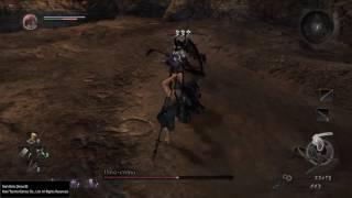 Nioh Beta Demo Succubus boss Half-Naked running, Spear strategy.