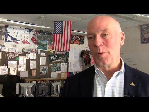 Rep. Gianforte visits Kalispell middle school classroom