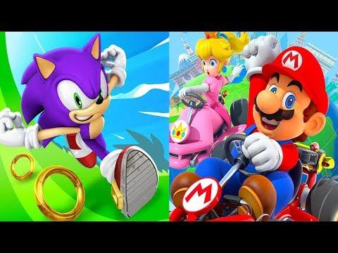 Sonic Dash ESPIO VS Mario Kart Tour