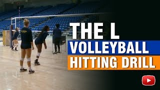 Inside Volleyball Practice - The L Hitting Drill - Coach Ashlie Hain