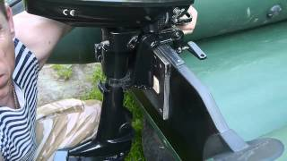 "Как ""подогнать"" мотор под лодку.    How to fit the motor under the boat"