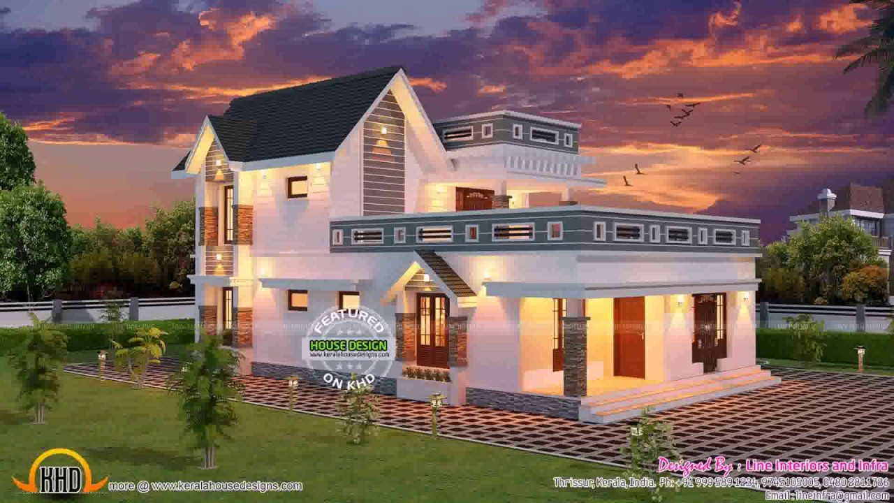 Kerala style house plans within 900 sq ft youtube for 5000 sq ft house plans in kerala