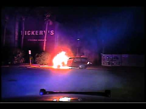 SC cop rescues drunk man as fire engulfs car