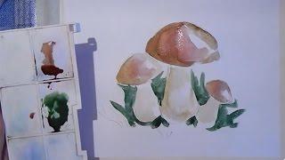 Как нарисовать гриб(Узнайте, как новичку научиться рисовать карандашом и красками: http://lessons-free.ru/paintdvd Новый урок по рисованию..., 2016-01-25T16:00:02.000Z)