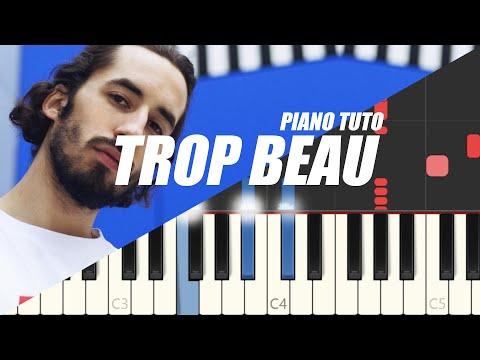 Lomepal - Trop Beau (Easy Piano Tutorial)